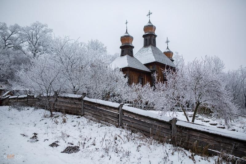 Зима в Пирогово (Київський фотограф Дмитро Бартош)