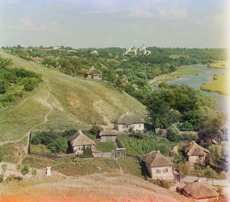 С. М. Прокудин-Горский. Вид на Путивль и реку Сейм.