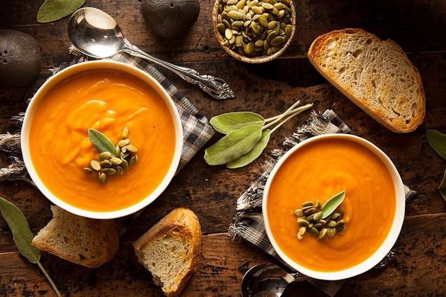Гарбузовий суп із солодким перцем