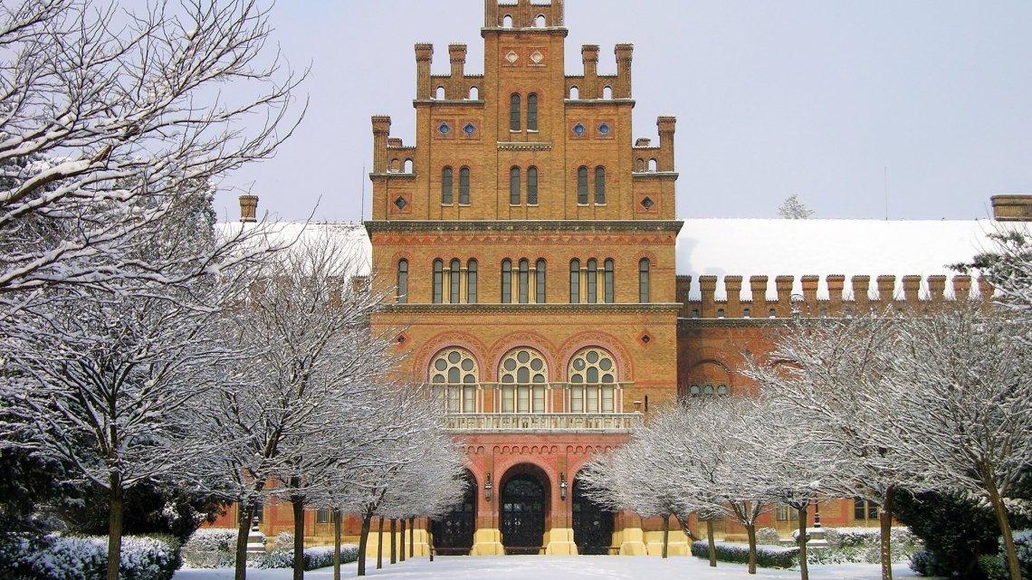 Чернівці, університет, зима