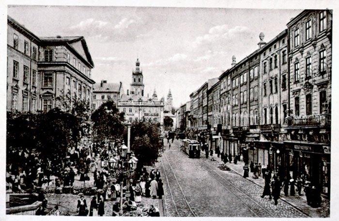 Львів. Площа Ринок. Фото початку ХХ століття