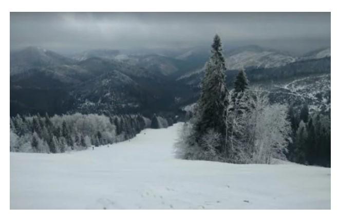 Гірськолижний спуск у с. Тисовець (фото Google Street View)