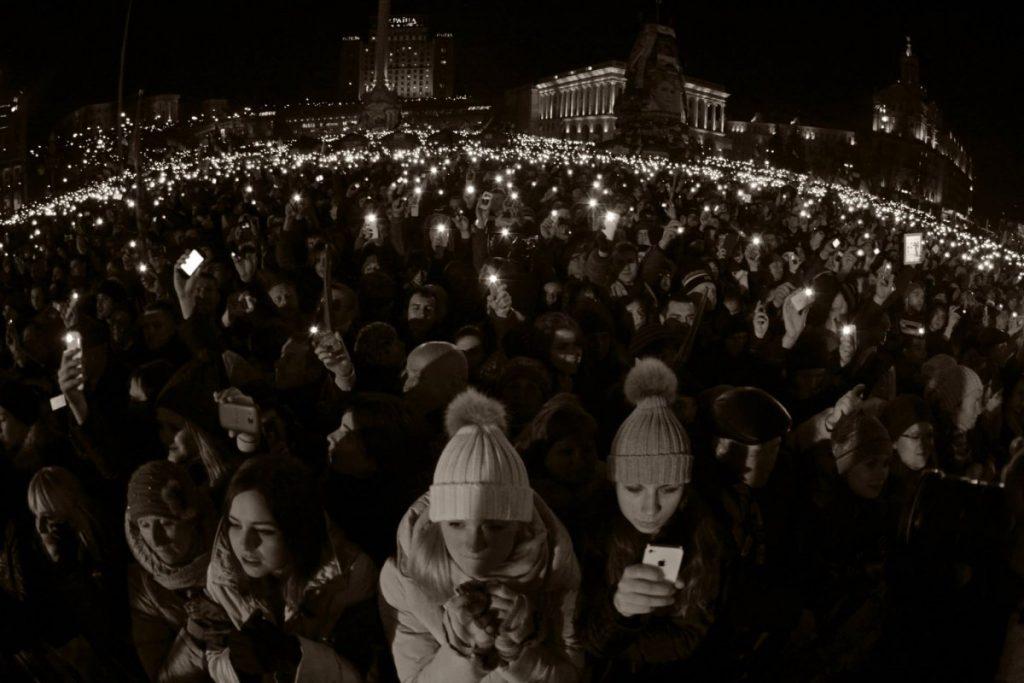 """15 грудня, під час концерту гурту """"Океан Ельзи"""". Фото з сайту gk-press.if.ua."""