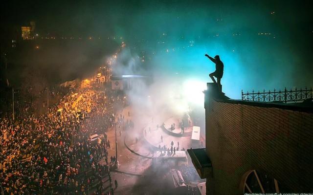 """20 січня, біля стадіону """"Динамо"""". Фото dendidenko."""