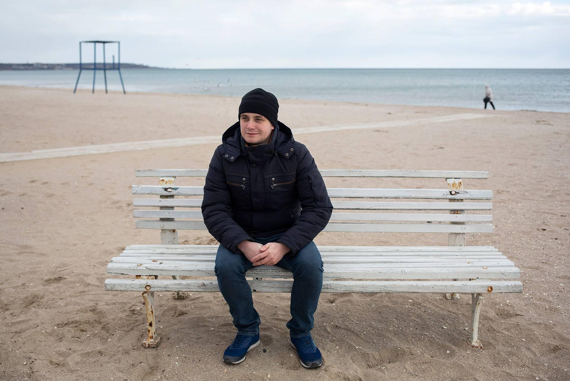 Павло Гладченко на прогулянці в Одесі, 2 березня 2019 року
