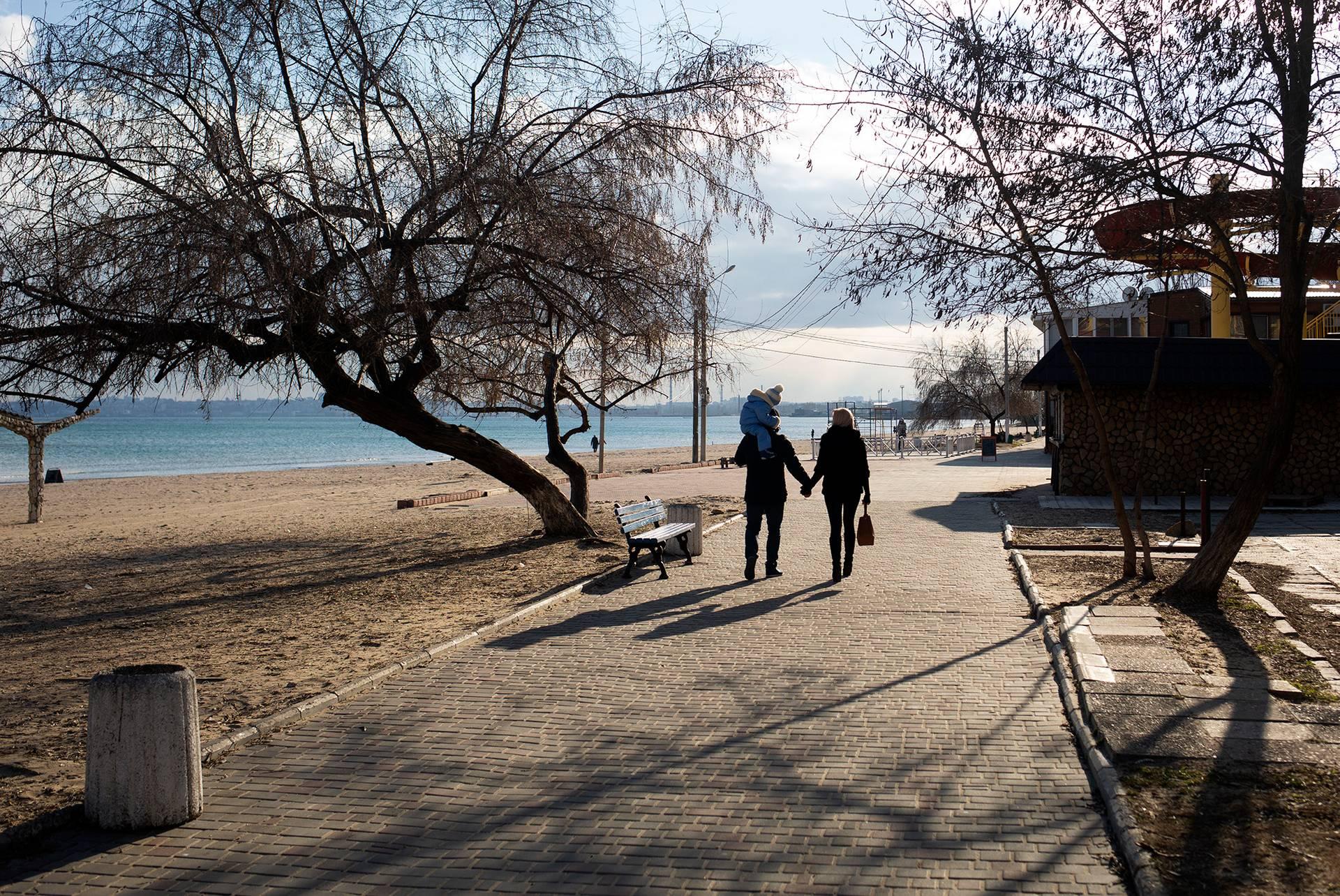 Паша з дружиною Юлею і сином, Одеса, 2 березня 2019 року