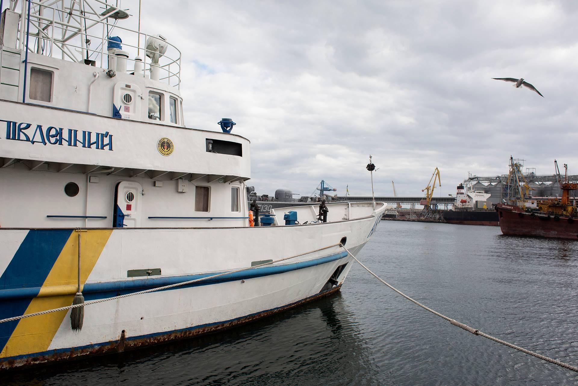 Катер зв'язку «Південний» на базі ВМС України в Одесі, 1 березня 2019 року