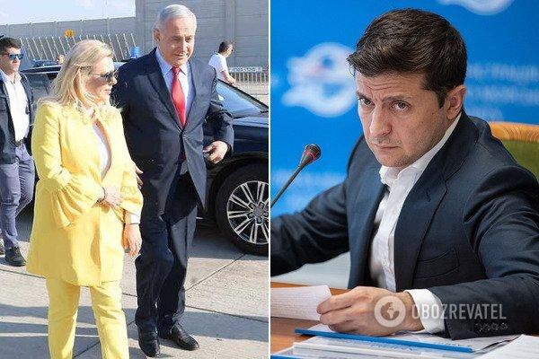 У Зеленського відреагували на інцидент із дружиною Нетаньягу