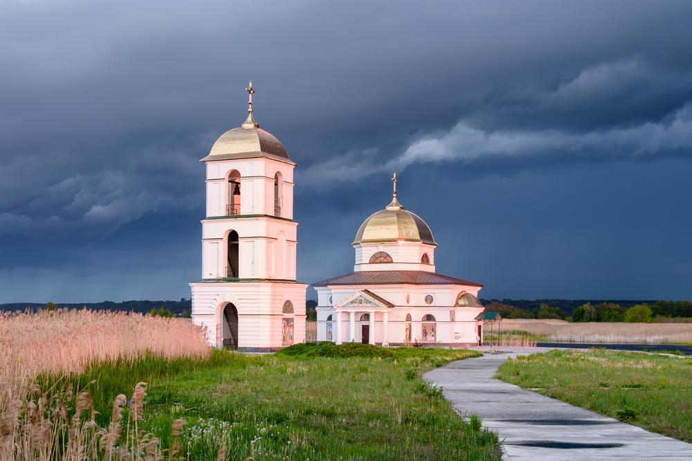 Затоплена церква біля Ржищева