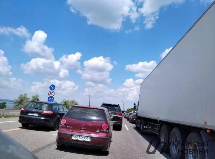 Затори на дорозі з Одеси