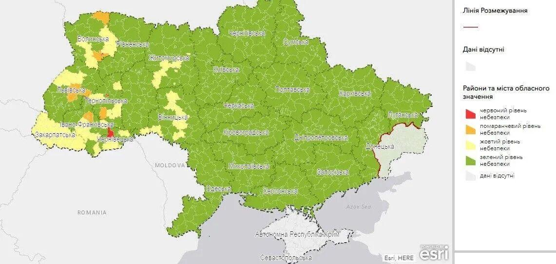 Карта регіонів за зонами