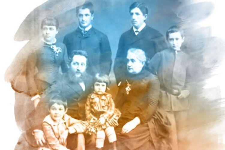 Олексій і Христина Алчевські разом із дітьми.
