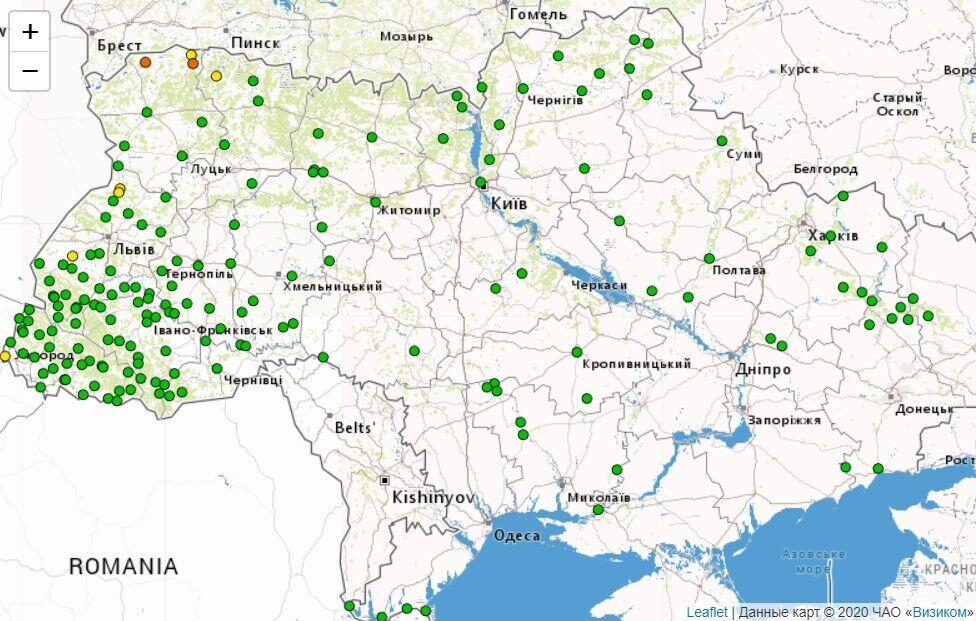 Оцінка небезпечності гідрологічної ситуації на річках України у створах гідрологічних постів