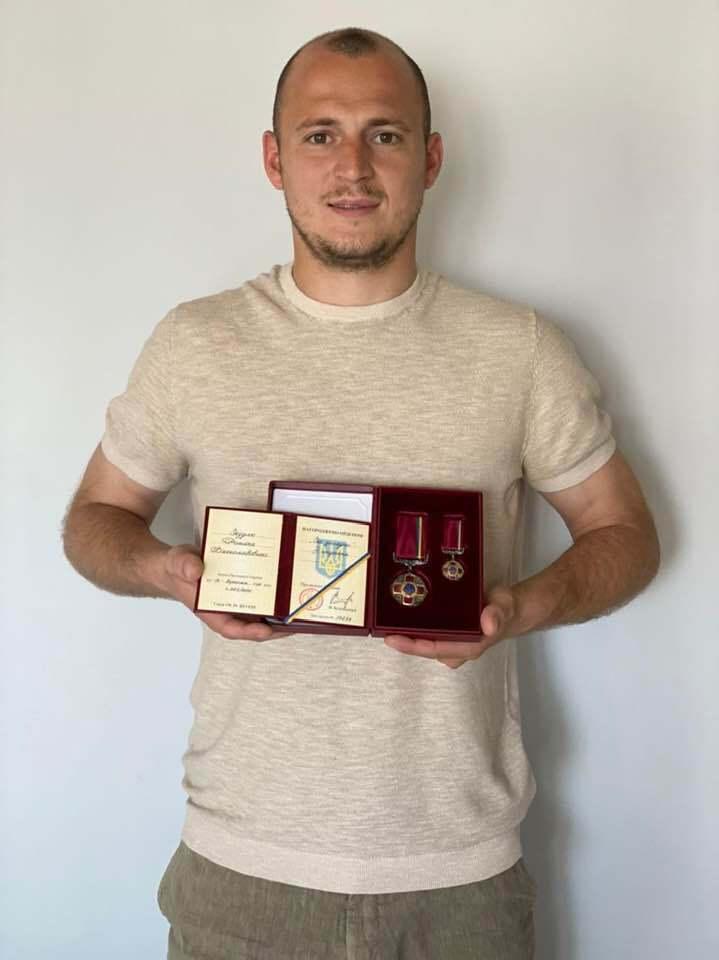 Роман Зозуля з орденом