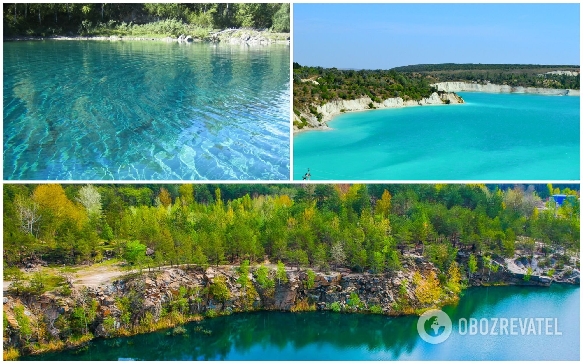 Блакитні озера на Чернігівщині – це затоплені кар'єри з видобутку кварцового піску