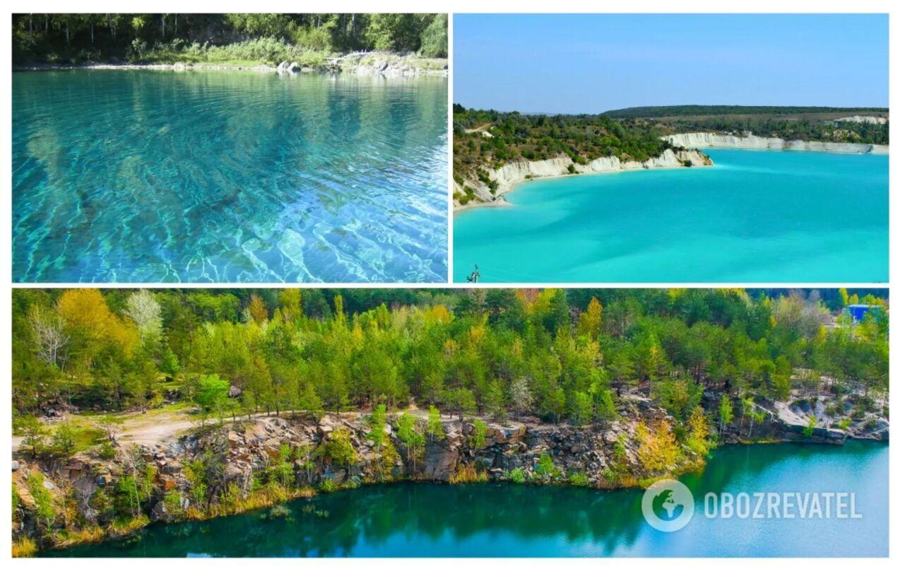 Блакитне озеро розташовується в Чернігівській області, недалеко від села Олешня