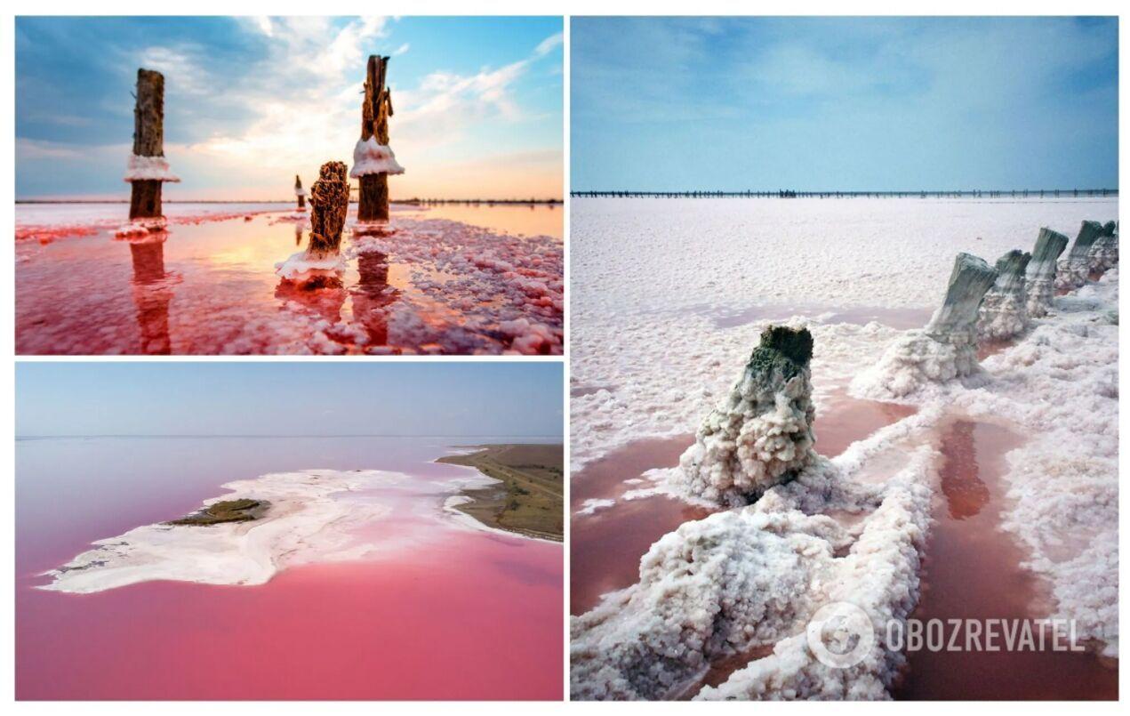 Рожеве озеро називають українським мертвим морем через високу концентрацію солі
